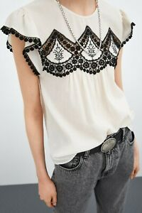 cherrie424: NWT Zara Embroidered Top