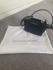 Michael Kors Selma Mini Saffiano Blue Cross-Body Bag In Excellent Condition