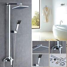 8 Zoll Duschamatur Duscharmatur Duschset Duschstange Regendusche Handbrause Set