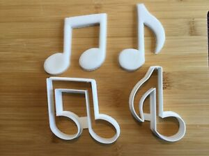 Musical Note Cookie Cutters Set of 2, Biscuit, Pastry, Fondant Cutter,Baking