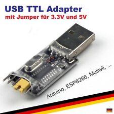 USB 2.0 CH340G TTL Konverter Adapter CP2102 PL2303 UART FTDI Arduino 5V + 3.3V