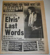 Midnight Globe Magazine Elvis Presley & Brenda Vaccaro September 1977 121514R