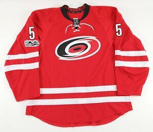2017 Carolina Hurricanes Noah Hanifin GAME USED Hockey Jersey