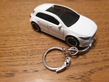 Diecast Mercedes Benz A Class White Toy Car Keyring RECORDED DELIVERY