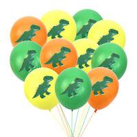 10pcs 12'' Dinosaur Cute Latex Balloons Print Assorted Birthday Party Kids-Decor