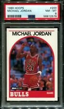 1989 HOOPS #200 MICHAEL JORDAN BULLS HOF PSA 8 K3106153-578