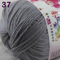 Sale lot 1 Skein x50g Cashmere Silk Wool Children Hand Knitting Crochet Yarn 37