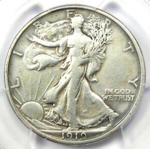 1919-S Walking Liberty Half Dollar 50C - PCGS VF Details - Rare Date Coin!