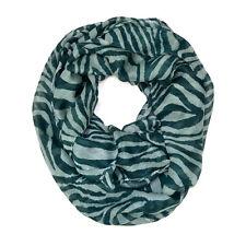 Zebra Animal Print Stripe Block Circle Loop Wrap Infinity Scarf Multi Color Soft