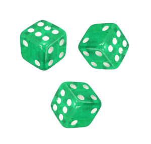 Green 4 Pc Dice Style Car Truck Bike Tyre Valve Caps Accessories^