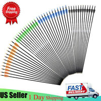 US 12 Pack 28/30/32 Inch Carbon Arrow Spine 500 for Compound/Recurve Bow Hunting
