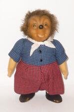 Età MECKI 28cm vecchia bambola Riccio meckifigur signora PERSONAGGIO PUPAZZO stoffa bambola Micki