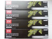 Zahnpasta Splat Blackwood schwarz mit Holzkohle und Wacholder 75 ml X 4 Stück