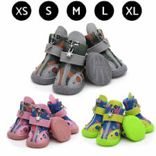 4Pcs Pet Dog Shoes Breathable Camouflage Mesh Fish Decor Outdoor Puppy Cat Boots
