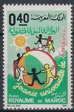 Marokko Maroc 1971 ** Mi.686 Kinder Children Globus Globe [st0275]