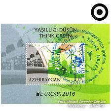 Aserbaidschan Azerbaijan Europa CEPT 2016, Umwelt/Think green, Block GESTEMPELT