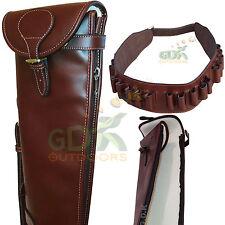 "Guardian Marrone Scuro in Pelle Shotgun Slip, & Cintura per cartucce, 28-32"" 179-05 - & - BELT"