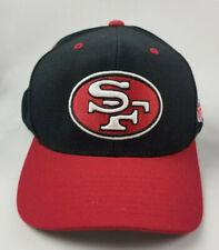 Mitchell & Ness NFL Vtg San Francisco 49ers SF Snapback Hat Red Black Cap