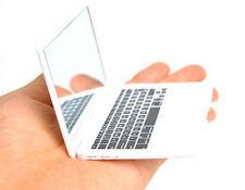 Mini white Pocket Cosmetic Beauty Mirror MacBook Air Laptop Clear Glass Women