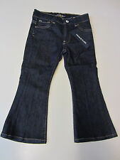 Lucky Brand Jeans Girl's Size 4T Charlie Flare Dark Blue Floral Stitch