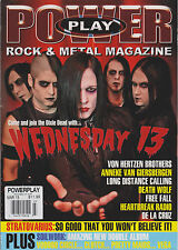 POWER PLAY ROCK & METAL MAGAZINE #151 UK MONTHLY March 2013,WEDNESDAY 13.