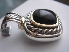 $975 DAVID YURMAN 14K GOLD ,SS ALBION BLACK ONYX ENHANCER