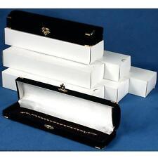 NEW 12 Bracelet & Watch Brass Corner jewelry Gift Box Black