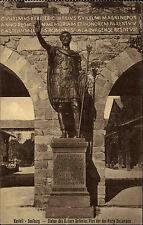 Kastell SAALBURG b/ Bad Homburg AK 1927 Kaiser Pius Statue an der Porta Decumana