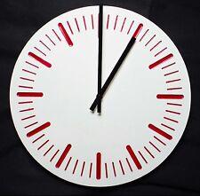 Grande horloge murale béton et polymère 400 mm