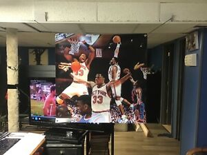 HUGE! 36x36 Patrick Ewing Vinyl Banner POSTER New York Knicks John Starks