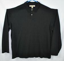 Tommy Bahama Silk Cotton Blend Long Sleeve Polo Shirt Sz  2XL
