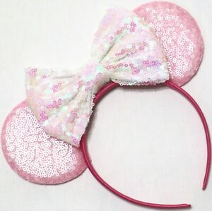 Valentine's Day Minnie Ears, Pink Mickey Mouse Ears, Red Disney Ears, HANDMADE