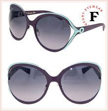 c933d02e7bf CHRISTIAN DIOR DIORELLE1 Oversized Matte Burgundy Aqua Metal Elle Sunglasses