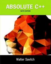 Absolute C++ by Walter Savitch and Kenrick Mock (2015, Paperback)