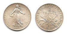 Lot pièce 2 Francs Semeuse argent SUP+ 1914 C très très rare qualité voir scan