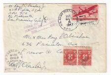 1943 US Army APO #966, Barking Sands Kauai Hawaii, Airmail Postage Due