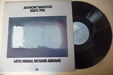 "ANTHONY BRAXTON ""DUETS 1976 -disco 33 giri ARISTA Us""  Jazz"