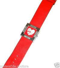 MOSCHINO Time 4 Peace RED SQUARE Quartz Lady Women Watch