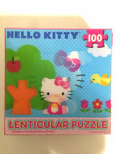 "Hello Kitty Lenticular Jigsaw Puzzle 100 PC 12"" x 9"" Blue"