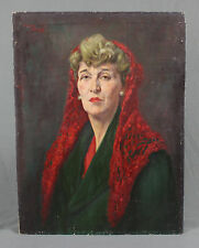 Oil Painting Portrait Spanish Lady by John Wilson Jowsey 1884