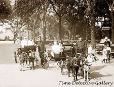 Children in Goat Carriages, Central Park, New York - 1904 - Historic Photo Print