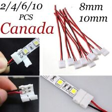 2/4/6/10X PCB Cable 2 Pin LED Strip Connector 3528/5050 Single Head Adapter Use
