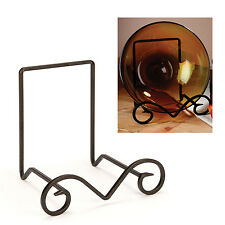 Large Metal Bowl Stand Plate Holder Display Platter Kitchen Decor Organizer Rack