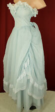 Gunne Sax By Jessica McClintock Strapless Blue Formal Prom Dress Sz 7 #D1124