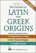NTC's Dictionary of Latin and Greek Origins, Good Condition Book, Moore, Robert