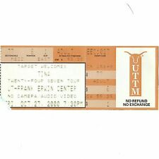 TINA TURNER Concert Ticket Stub AUSTIN TEXAS 10/27/00 TWENTY FOUR SEVEN TOUR