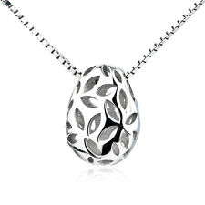 CUTOUT PEANUT PENDANT NECKLACE 18 INHCES STAMPED .925 STERLING SILVER SS1790