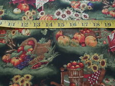 Susan Winget Harvest Scene Cotton Fabric By The Yard