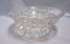 Candy Dish-Vintage Lenox Gorham Lady Anne Crystal Bowl Hexagon Base Germany