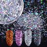Déco d'Ongles Holographique Brillant Poudre Mixte Acrylique Gel Sequins Manucure